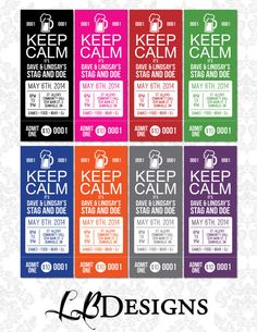 Items Similar To Stag And Doe Tickets Keep Calm It S On Etsy