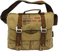 "Military Canvas Bike Messenger Bag - Larger Size 17""  #canvasmessengerbag #militarybag #backtoschool"