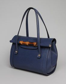Gorgeous Gucci small top handle flap satchel with bamboo detail