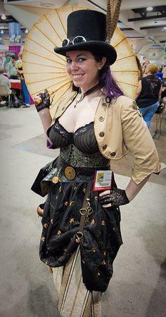 Steampunk Lady With Parasol Mode Steampunk, Steampunk Couture, Steampunk Dress, Steampunk Cosplay, Steampunk Wedding, Victorian Steampunk, Steampunk Clothing, Steampunk Fashion, Vintage Gothic