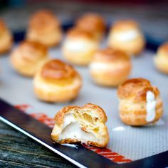 This might replace my go-to Christmas party offering... who doesn't love melted goat cheese?  Goat cheese puffs Dorie Greenspan Around my French Table French Fridays with Dorie