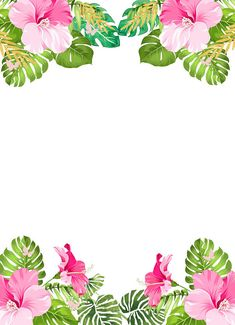 Template Convite Festa Havaiana Bday Pinterest Flamingo Party