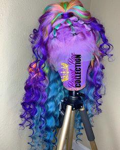 no solo me gusta seguir también y yo . Wig Styles, Curly Hair Styles, Natural Hair Styles, Colored Wigs, Colored Hair, Braids Wig, Baddie Hairstyles, Hair Laid, Luxury Hair
