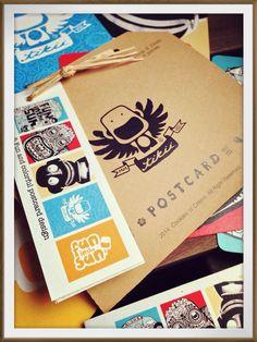 Fun and colorful postcard design