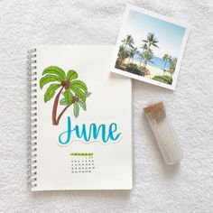 my june cover page for my bujo! i was inspired by @my.life.in.a.bullet's June plan with me video! . . . i used crayola supertips and…