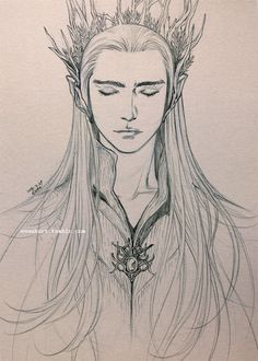 "Thranduil from ""The Hobbit"" - Art by evankart.tumblr.com"