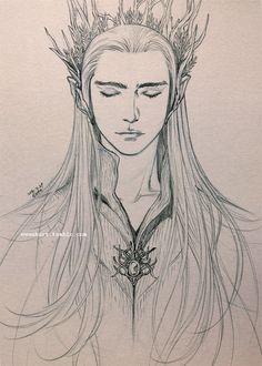 "Thranduil from ""The Hobbit"" - Art by evankart.tumblr.com"