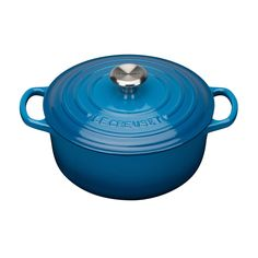 The perfect pot for Blue Monday! Cook up a treat with this Le Creuset Cast Iron Round Casserole dish in Marseille Blue.   Shop now at Leekes  https://www.leekes.co.uk/le-creuset-signature-round-casserole-20cm-marseille