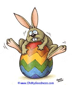 GIF Easter Bunny With Rubber Egg