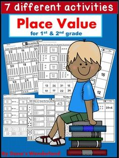 Place value: Place Value worksheets for 1st and 2nd grade.This Place Value…