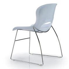Look Sled Base office chair.  The Look stackable office visitors chairs is an easy solution for reception seating, visitors chairs, corporate conference rooms or training room seating.  Look features a scratch resistant electroplated chrome solid rod sled base frame. An upholstered fabric or leather seat pad is an available option. Look also offers a portable chair stack trolley, which can be easily moved around the tightest of office spaces.