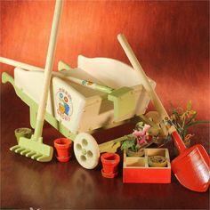 Push Cart Wheel Barrow And Outdoor Garden Play Set
