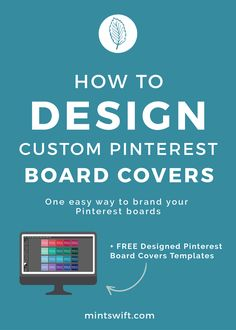 The quickest and the easiest way to make sure your Pinterest boards fits your brand is to design custom board covers using your brand colours, fonts and other elements like patterns or photography. In this post, I'll show you how to design custom Pinterest board covers and how to upload and add a custom board cover image on Pinterest.