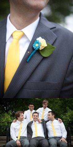 Yellow and aqua wedding ... Wedding ideas for brides & bridesmaids, grooms & groomsmen, parents & planners ... https://itunes.apple.com/us/app/the-gold-wedding-planner/id498112599?ls=1=8 … plus how to organise an entire wedding, without overspending ♥ The Gold Wedding Planner iPhone App ♥