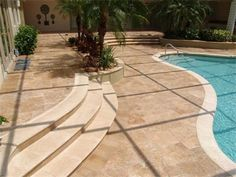 18 Travertine Pool Deck Ideas