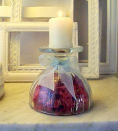 Arreglo en copas con flores secas