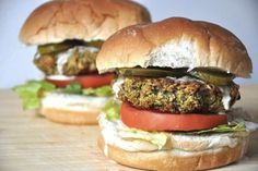 Baked Broccoli Burgers | One Green Planet