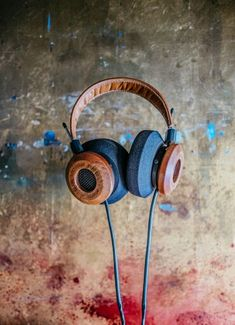 The GS1000e in their first photo shoot. That mahogany High end audio audiophile headphones