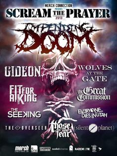 """July 14 @ Outland Ballroom - Queen City Productions presents """"Scream The Prayer 2013"""" featuring Impending Doom 