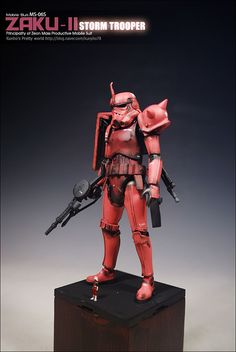 GUNDAM GUY: Gundam x Star Wars: 1/12 MS-06S Char's Zaku II Storm Trooper - Custom Build