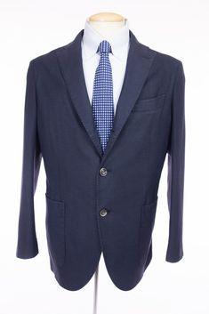 BOGLIOLI New Mens K. Jacket Blazer 52 42 L Blue Wool Unstructured NWOT $1425 #Boglioli #ThreeButton