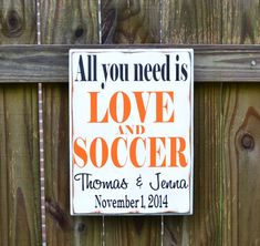All you need is LOVE and SOCCER Personalized Wedding by CSSDesign