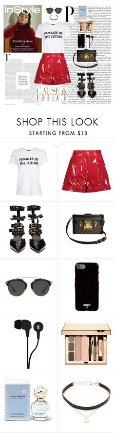 """""""The Future Is Female"""" by aimeqw on Polyvore featuring moda, Topshop, Valentino, Robert Clergerie, Louis Vuitton, Christian Dior, Givenchy, Skullcandy, Marc Jacobs y Envi:"""