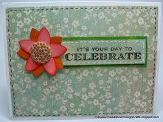 Another Basic Celebrate With Flowers Card using Basic Grey Fiction collection and Hero Arts.  http://thegoodthebadandtheuglycrafts.blogspot.com/2013/10/another-basic-celebrate-with-flowers.html