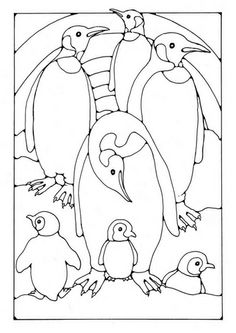 penguin coloring pages free printable for kids coloring pages