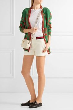 Gucci   Ribbed knit-trimmed twill shorts   NET-A-PORTER.COM
