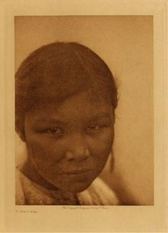 An unidentified girl of the Cree Nation. No date or additional information.