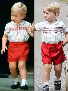 Prince William and Prince George   .........LIKE FATHER, LIKE SON...............ccp