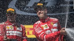 Vettel extends title lead in Ferrari one-two
