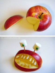 64-non-candy-halloween-snack-ideas-apple-monster