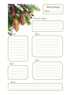 Planlegger for juleselskap