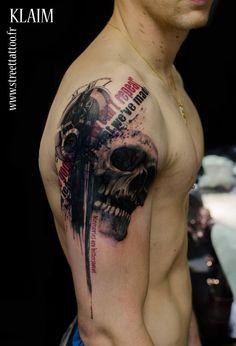 Klaim street tattoo new school style!!