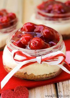 Cherry Cheesecake Delights on { lilluna.com }
