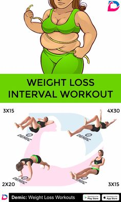 Weight Loss Interval Workout - Ryana O. Great Chest Workouts, Teenager Training, Training Apps, Workouts For Teens, Fitness Workout For Women, Waist Workout, Diet Plans To Lose Weight, Lose Belly Fat, Motivation