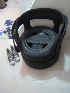 Poltrona de pneus R$150.00                                                                                                                                                     Mais