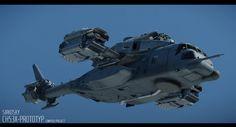 ArtStation - Aircraft Carrier and CH53X, Frank Meinl