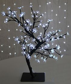 Check out the deal on Bonsai Tree 23 Inch -  96 Cool White LED'S at Battery Operated Candles- another good idea