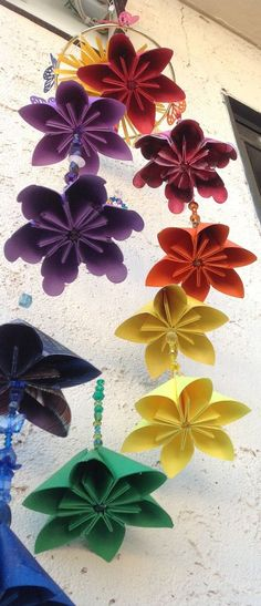Kusudama Origami Flower Mobile Customized by GracelinePaperStudio