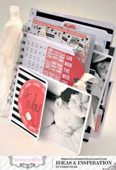 TERESA COLLINS DESIGN TEAM: Teresa Collins - Save the Date collection used as baby book by Cheri Piles @Cheri Piles