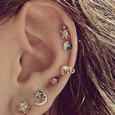 Minimalist Cartilage Ear Piercings at MyBodiArt