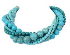 Déclaration Turquoise Collier - bijoux de mariage Turquoise