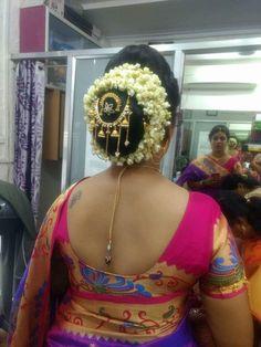 Indian Long Hair Braid, Braids For Long Hair, Bridal Hair Buns, Indian Flowers, Side View, Bun Hairstyles, Bb, Backless, Satin