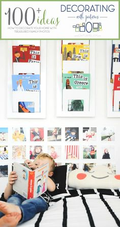 Decorating with instagram pictures!   Perfect decor for a kids bedroom!  Capturing-Joy.com