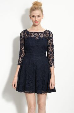 beyond obsessed with this blue lace dress