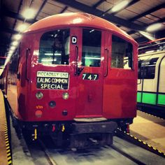 This is a photo of one of the 1938 tube stock at the LTMuseum depot. It was to become the standard London Tube train for the next 50 years and came to be regarded as a classic! London Underground Train, Notes From Underground, Underground Lines, London Underground Stations, Old London, West London, Tube Train, Restaurant Names, Paris Metro