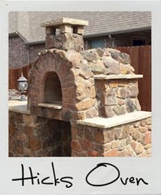 Hicks Wood Fired Brick Pizza Oven in Texas by BrickWood Ovens